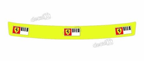 Adesivo Capacete Viseira Refletivo Ferrari 22x2 Cms Vis06