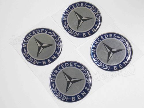 Adesivo Emblema Resinado Roda Mercedes 145mm Cl7