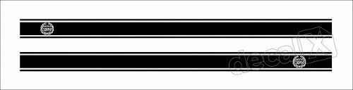 Adesivo Faixa Lateral Mini Cooper Countryman 3m Fa5