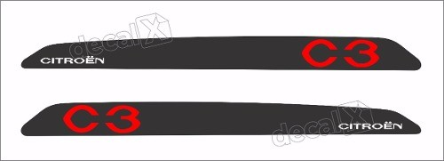 Adesivo Faixa Lateral Citroen C3 Sport 3m C319