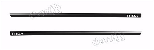 Adesivo Faixa Lateral Nissan Tiida 3m Td53