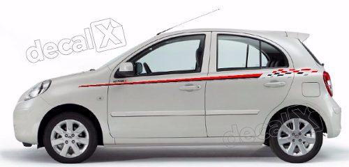 Adesivo Faixa Lateral Nissan March Mar15