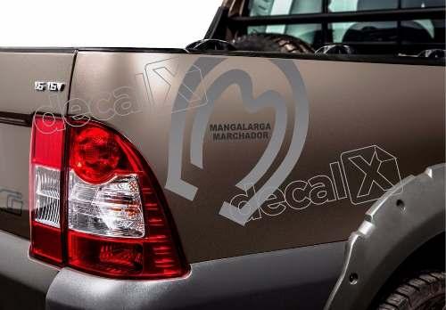 Emblema Adesivo Fiat Strada Mangalarga Marchador Strda16