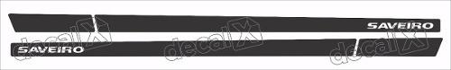 Adesivo Faixa Lateral Volkswagen Saveiro Preto Sts001