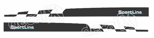 Adesivo Faixa Lateral Volkswagen Golf 3m Gmb003