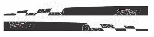 Adesivo Faixa Lateral Volkswagen Golf 3m Gmb010