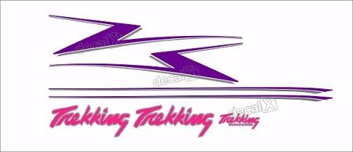 Kit Adesivo Faixa Lateral Fiat Fiorino Trekking 1996 Tkk02