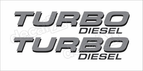 Emblema Adesivo F250 Turbo Diesel Prata/preto Tdslpr