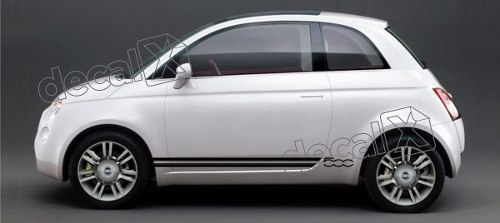 Adesivo Faixa Lateral Fiat 500 3m 50003