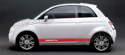 Adesivo Faixa Lateral Fiat 500 3m 50012