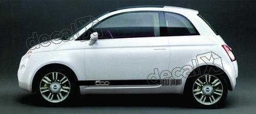 Adesivo Faixa Lateral Fiat 500 3m 50015