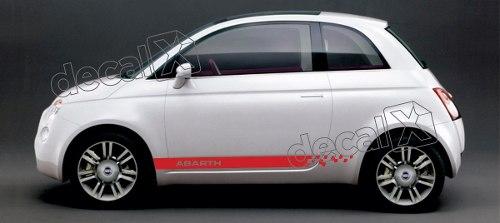 Adesivo Faixa Lateral Fiat 500 3m 50011