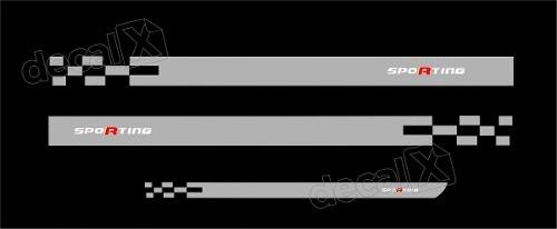 Kit Adesivo Faixa Lateral Mala Fiat Punto Sport Pntof33