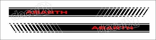 Adesivo Faixa Lateral Fiat Punto Abarth Pntoa06