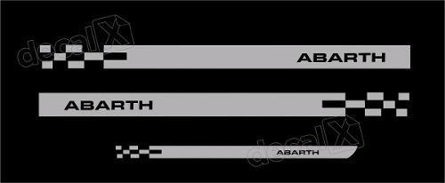 Kit Adesivo Faixa Lateral Mala Fiat Punto Abarth Pntof34