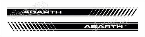 Adesivo Faixa Lateral Fiat Coupe Abarth Coupe07