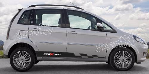 Adesivo Faixa Lateral Fiat Idea Idea09