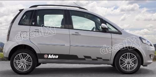 Adesivo Faixa Lateral Fiat Idea Idea07