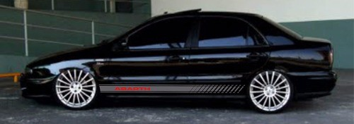 Adesivo Faixa Lateral Fiat Marea Marea07