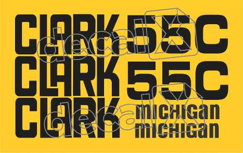 Kit Adesivos Michigan Clark 55c. 55cm2