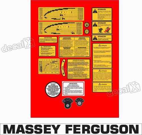 Kit Adesivos Massey Ferguson Mf290. Mod02