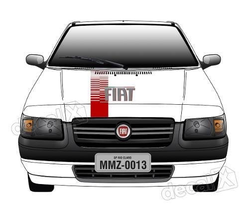Adesivo Faixa Capo Fiat Uno Mille Fire Way Unoc17