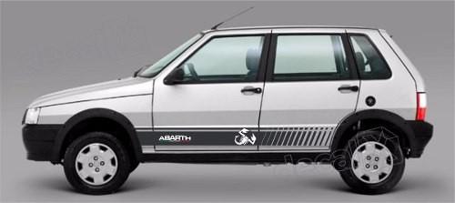 Adesivo Faixa Lateral Fiat Uno Abarth Unoc35