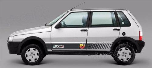 Adesivo Faixa Lateral Fiat Uno Abarth Unoc34