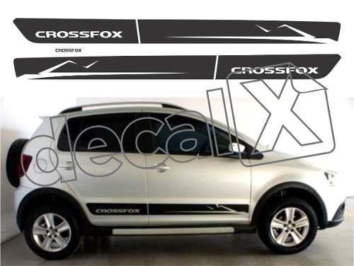 Adesivo Faixa Lateral Volkswagen Crossfox 2010 Cf003