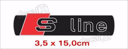 Emblema Adesivo Resinado Audi S Line Res17