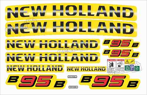 Kit Adesivos New Holland B95b