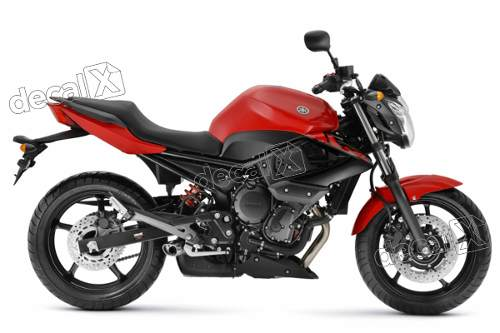 Kit Adesivo Emblema Yamaha Xj6 2011 Vermelha Xj61101