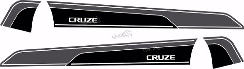 Adesivo Faixa Lateral Chevrolet Cruze Crz0010