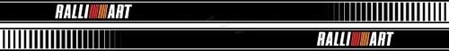 Adesivo Faixa Lateral Mitsubishi Lancer Ralliart Lc009