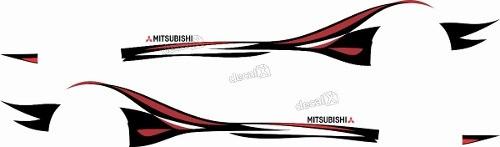 Adesivo Faixa Lateral Mitsubishi Lancer Lc014