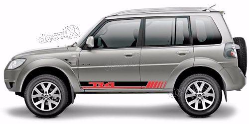 Adesivo Faixa Lateral Mitsubishi Pajero Tr4 Tr403