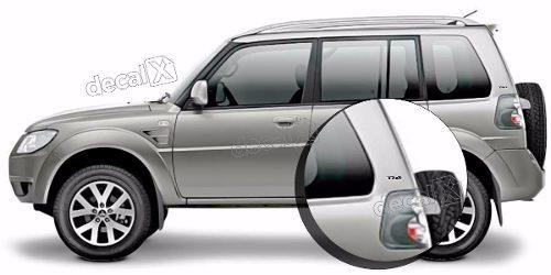Emblema Adesivo Resinado 4x4 Mitsubishi Pajero Tr4 Par Tr408