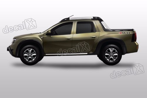 Par Adesivo Caçamba Renault Duster Oroch 4wd Dstr09
