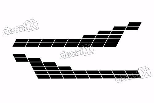 Adesivo Faixa Lateral Renault Sandero Tuning Sdro83