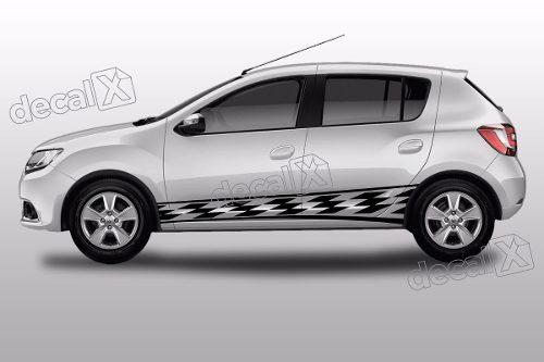 Adesivo Faixa Lateral Renault Sandero Tuning Sdro84