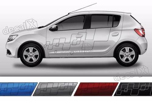 Adesivo Faixa Lateral Renault Sandero Tuning Sdro86