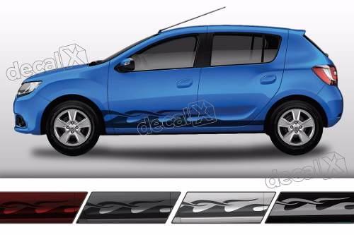 Adesivo Faixa Lateral Renault Sandero Tuning Sdro88