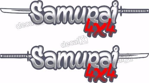 Adesivo Lateral Suzuki Samurai 4x4 Smrai05