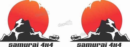 Adesivo Lateral Porta Suzuki Samurai 4x4 Smrai11