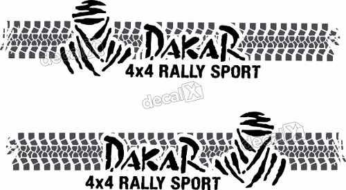 Kit Adesivo Faixa Lateral Troller Dakar 2008 Fl006