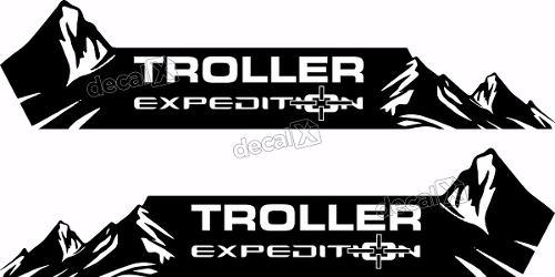Kit Adesivo Faixa Lateral Troller Expedition 2009 Fl007