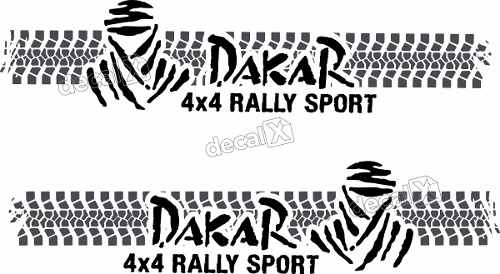 Kit Adesivo Faixa Lateral Troller Dakar 2012 Fl006