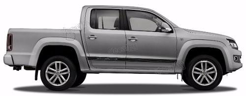 Adesivo Faixa Lateral Volkswagen Amarok Dark Label Ama99
