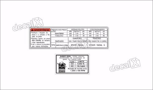 Kit Jogo Etiqueta Adesivo Suzuki Bandit 600n Etad01