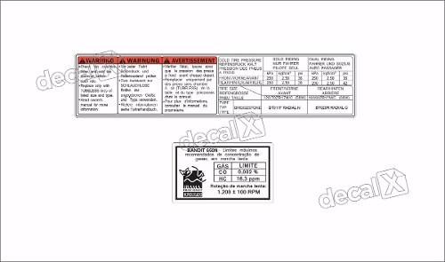 Kit Jogo Etiqueta Adesivo Suzuki Bandit 650n Etad03